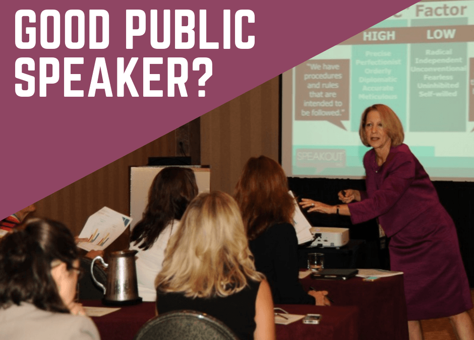 What Does It Take to Be a Good Public Speaker?