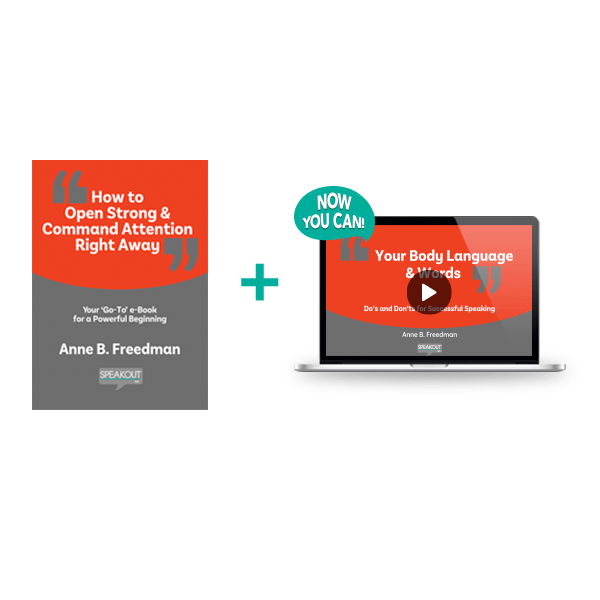 miniCourse: How to Open Strong & Command Attention Right Away - Speakout Inc